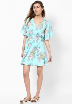 aqua-blue-angel-sleeve-crepe-dress-product