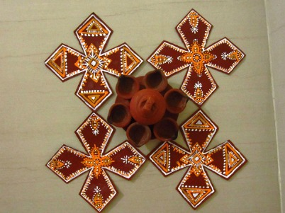 Your very own d i y diwali voonik fashion for Home made rangoli designs