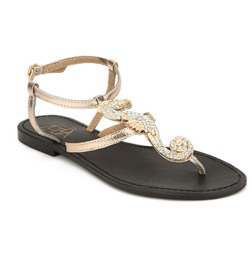 Gold sandals1
