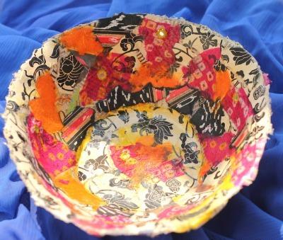 Papier-mache-bowls