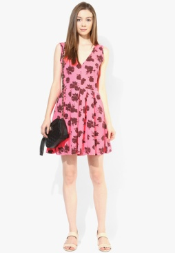 Superdry-Pink-Colored-Printed-Skater-Dress-0205-7948851-2-product2
