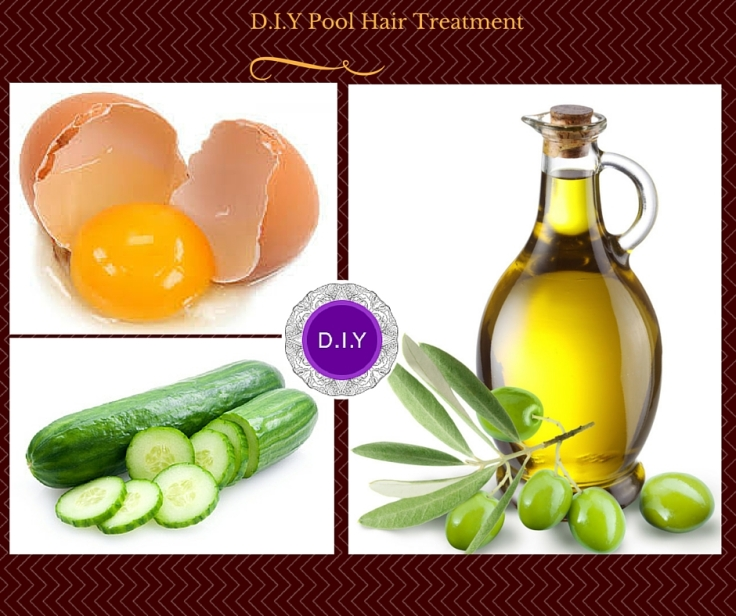 D.I.Y pool hair treatment