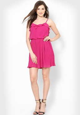Vero-Moda-Fuchsia-Colored-Solid-Skater-Dress-0344-626026-2-product2