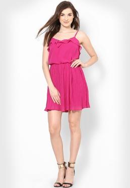 Vero-Moda-Fuchsia-Colored-Solid-Skater-Dress-0344-626026-2-product2