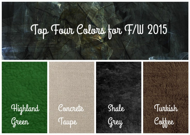 Top 4 colors for F:W 2015