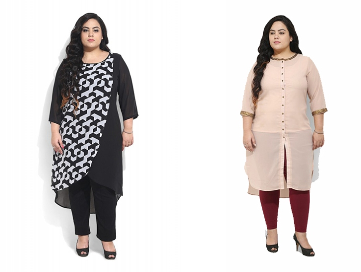 b0c7e439d3f64 How to choose a perfect kurti for Plus size  – Voonik Fashion