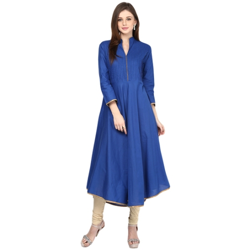 bhama-couture-blue-pintuck-anarkali-cotton-kurti-product