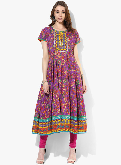 Sangria-Round-Neck-Kalidar-Kurta-With-Short-Sleeves-1302-9901681-1-product
