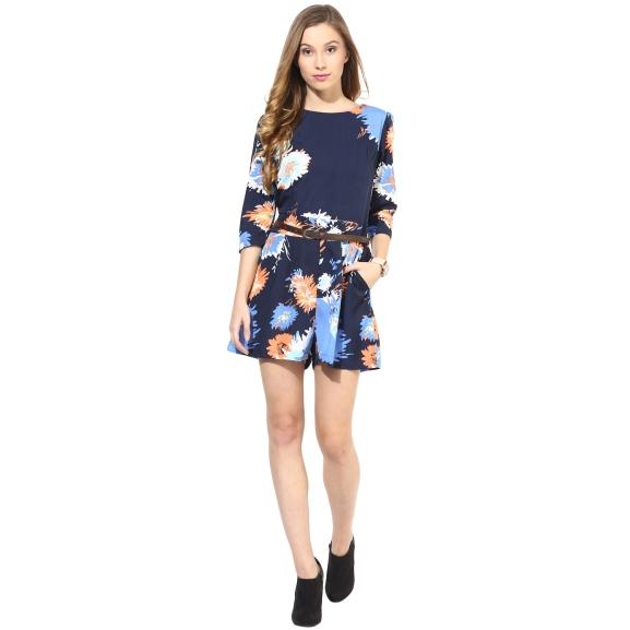 3-slash-4th-sleeves-floral-print-romper-original