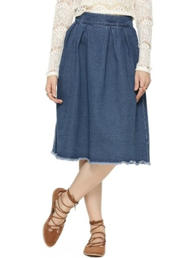 first-and-i-raw-edge-denim-midi-skirt-product