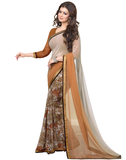 ravechi-feb-ayesha-brown-and-cream-georgette-saree-product
