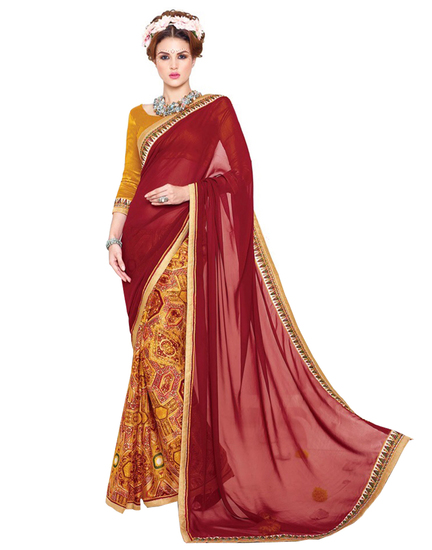 ravechi-feb-maroon-and-yellow-georgette-printed-sar-product