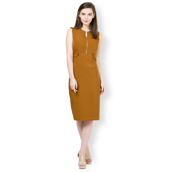retro-solid-sleeveless-front-zipper-sheath-midi-dre-product