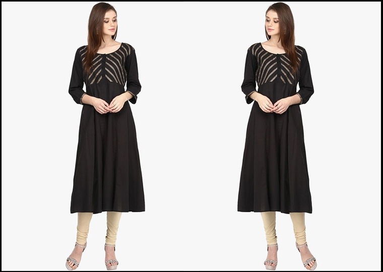How to choose a Perfect kurti for Pear shape body