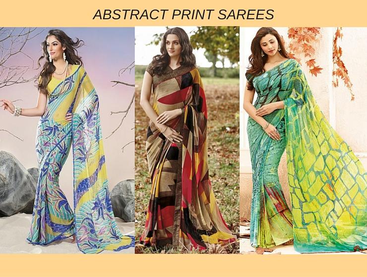 Abstract Sarees