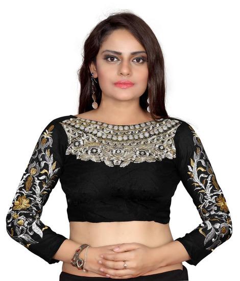 bhuwal-fashion-designer-black-creap-blouses-unstitc-product