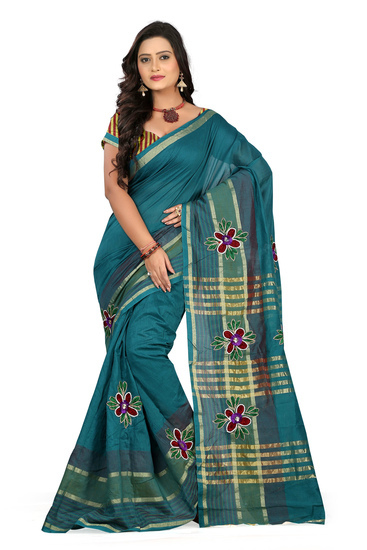 bikaw-embroidered-turquoise-cotton-fashion-casual-w-product