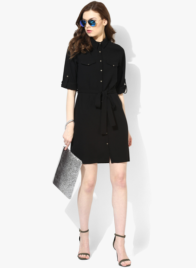 indicot-black-rayon-modern-dress-4-product