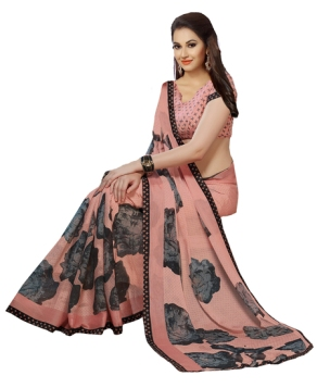 ishin-faux-georgette-peach-and-black-printed-womens-product