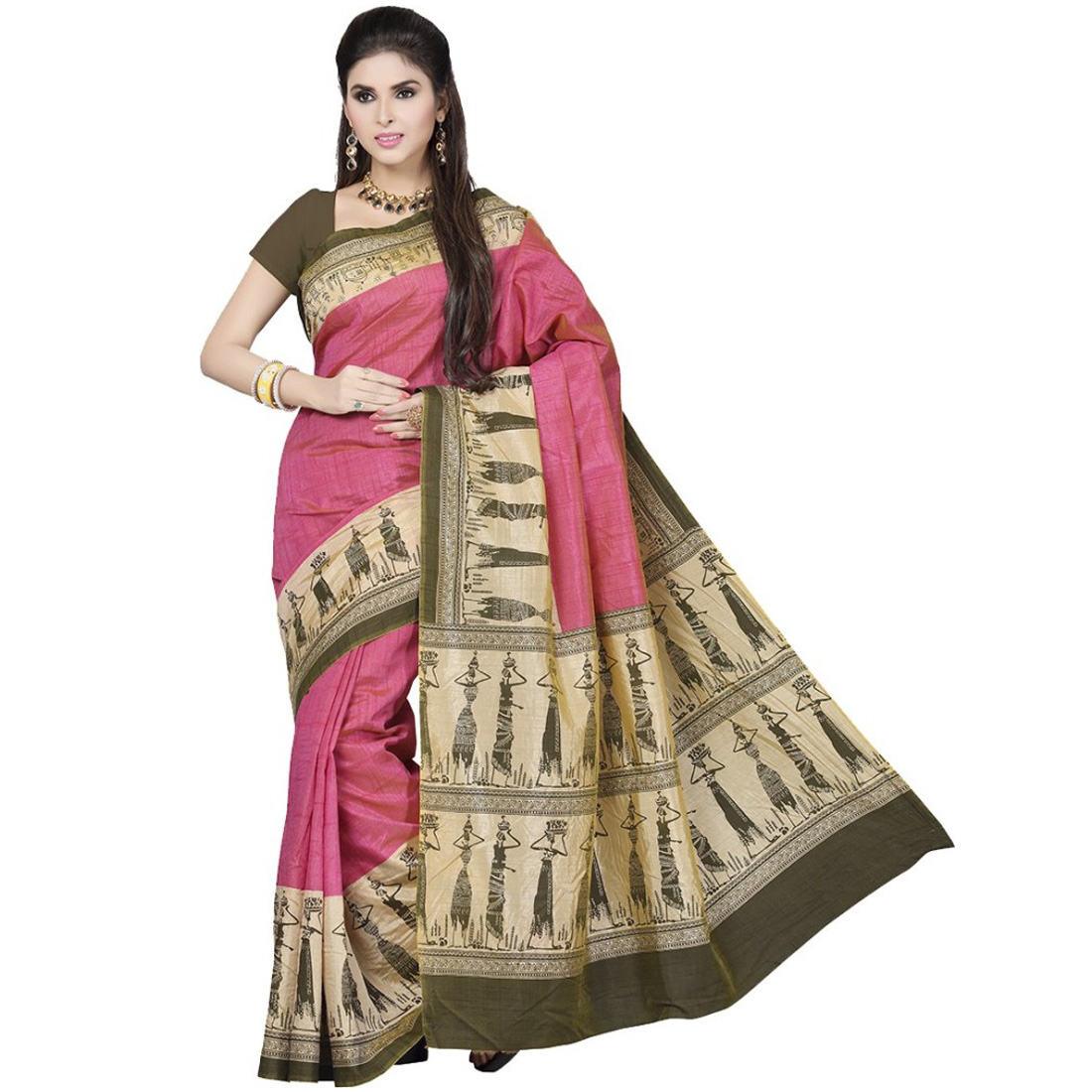rani-saahiba-art-silk-warli-printed-saree-original