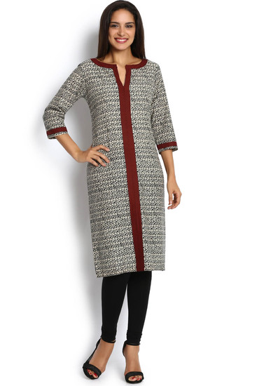 soch-beige-and-maroon-printed-cotton-kurti-product