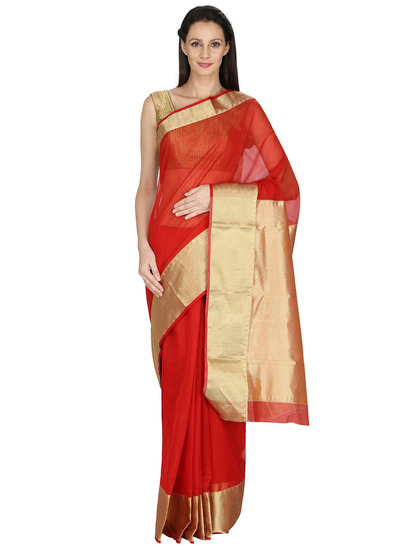 dazzle-dori-red-handwoven-chanderi-saree-product