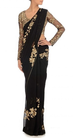 manish-malhotras-designer-black-georgette-saree-3-product