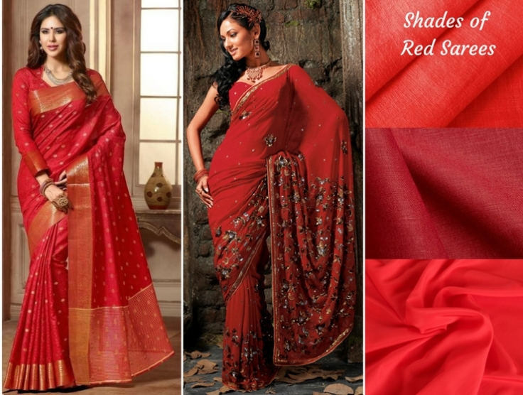 Shades of Red Sarees