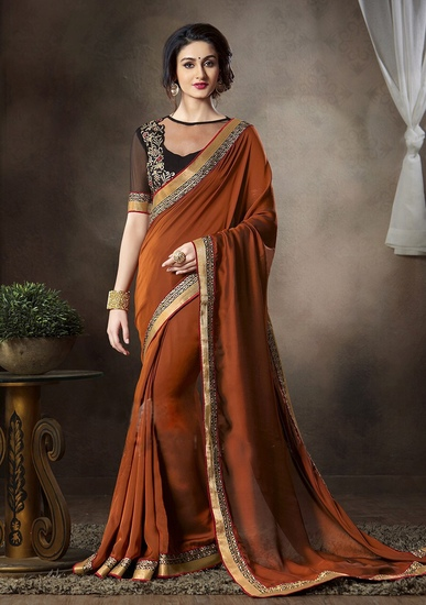 orange-brown-shaded-embroidered-georgette-party-wea-product