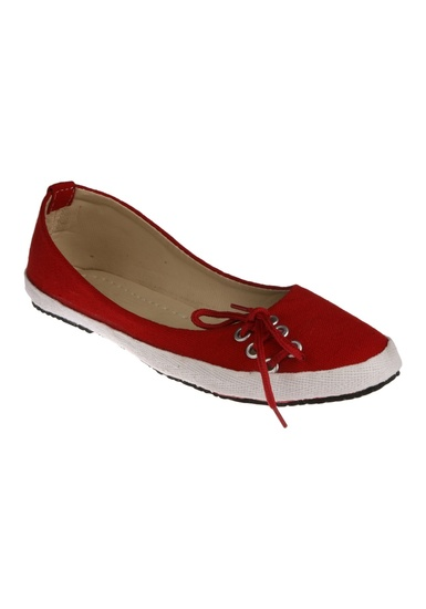 zachho-red-matty-rubber-sheet-casual-shoes-product