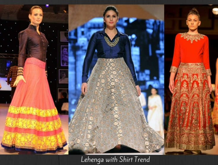 lehenga-with-shirt-trend